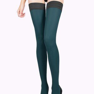 Teal Tights Thigh High Stockings